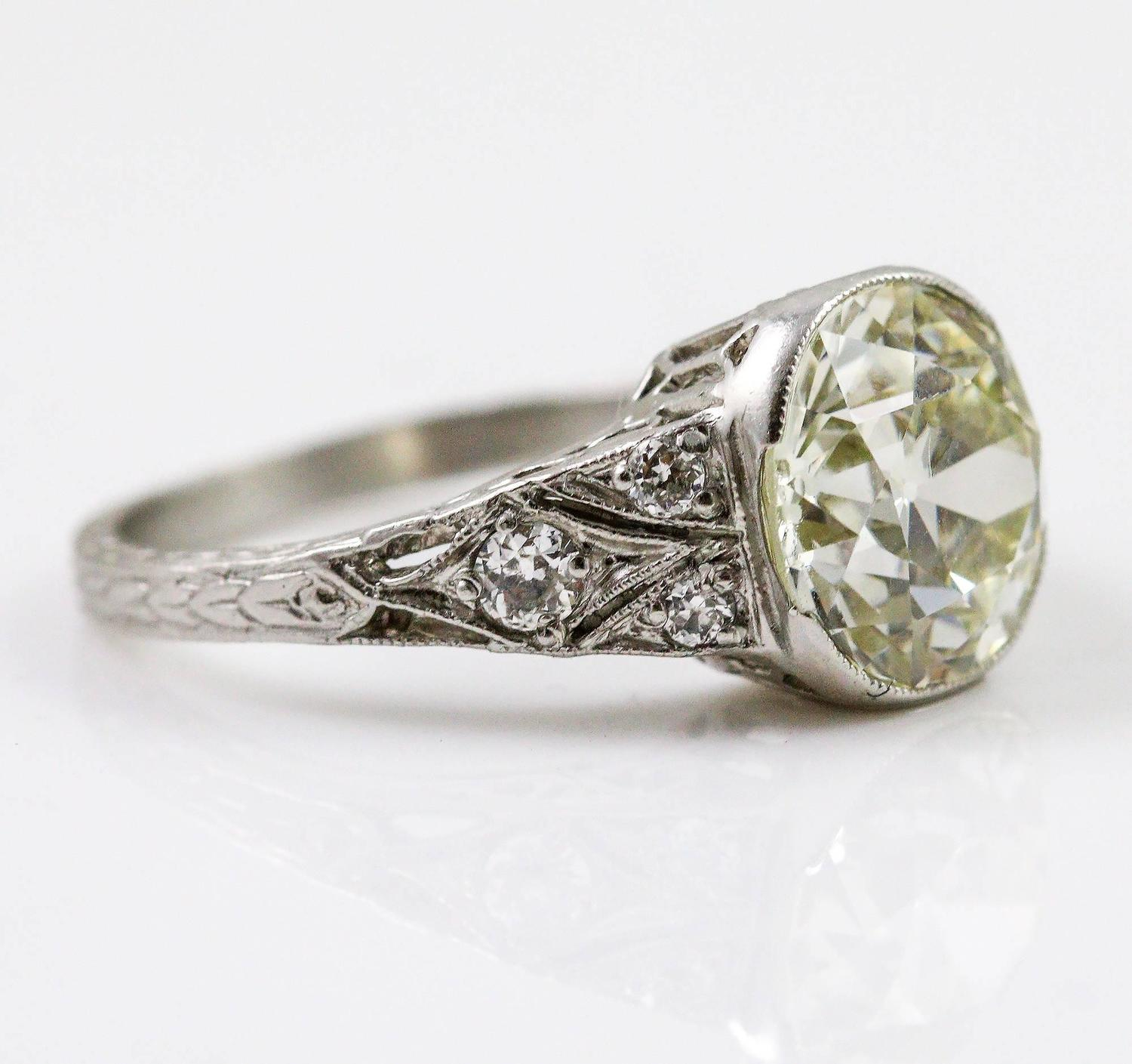 Beautiful antique engagement rings