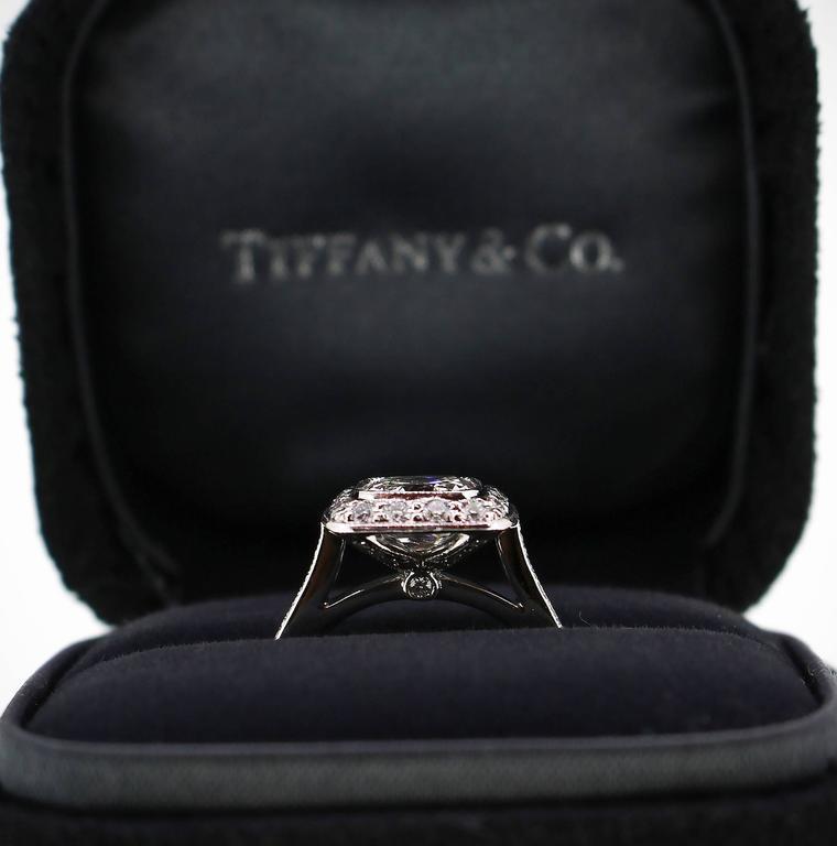 Tiffany & Co. 1.62 Carat Legacy Cushion Cut Platinum Halo-Style Engagement Ring 5