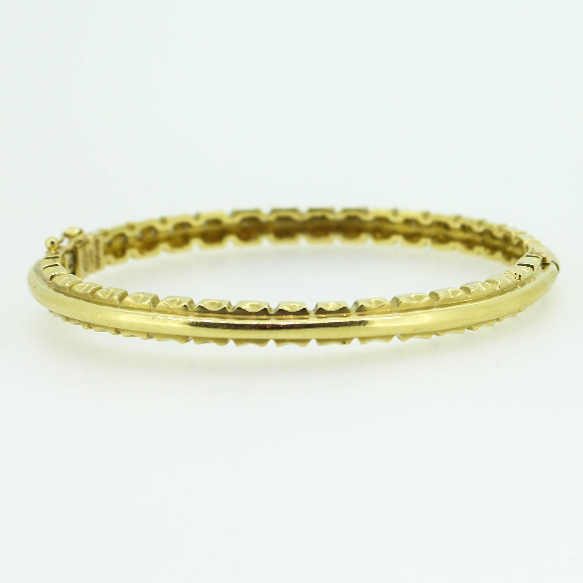 bracelet yellow gold bangle diamond thin bangles london collection