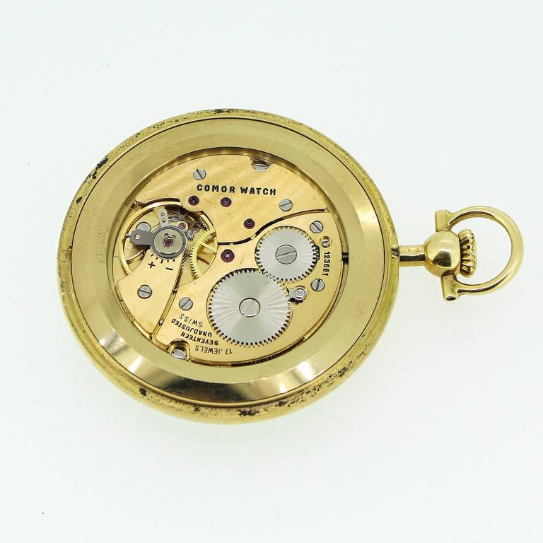 Modernist Yellow Gold Tiffany and Co Pocket Watch For Sale