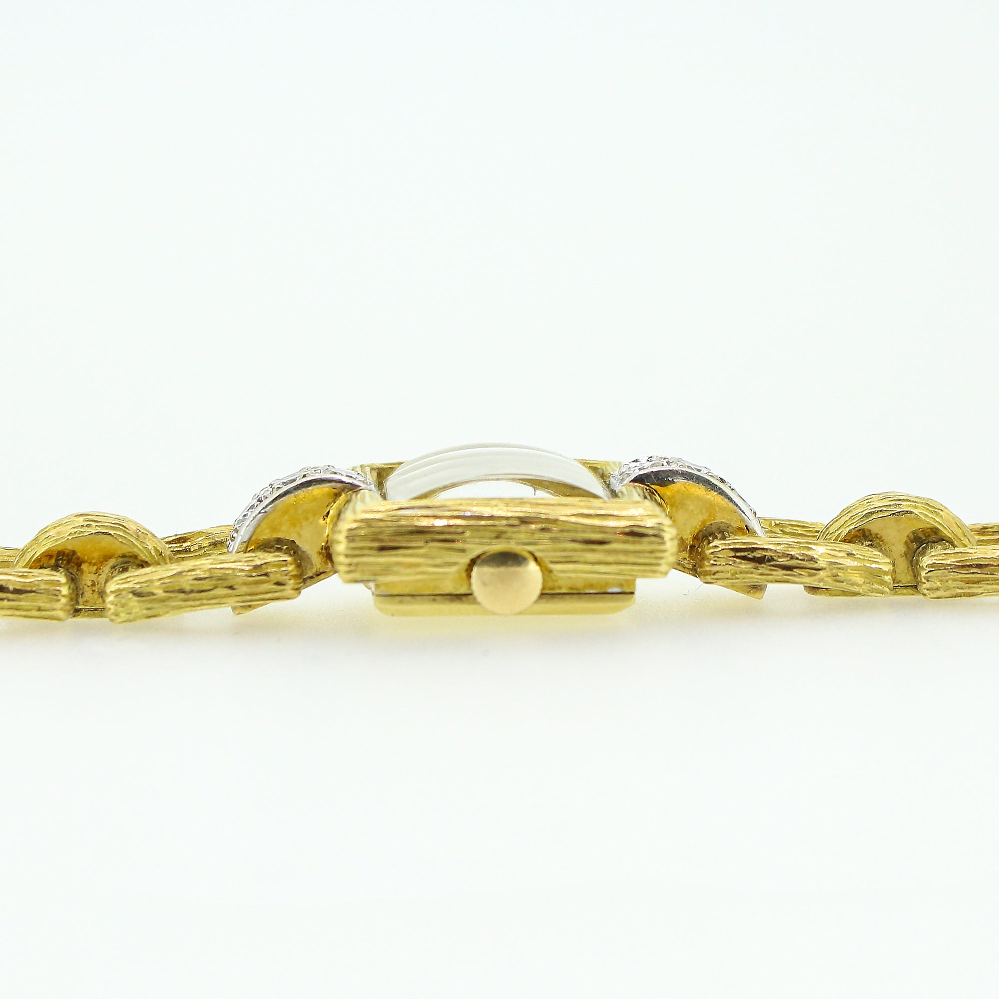 yellow gold strand design braid more views with three diamonds bracelet