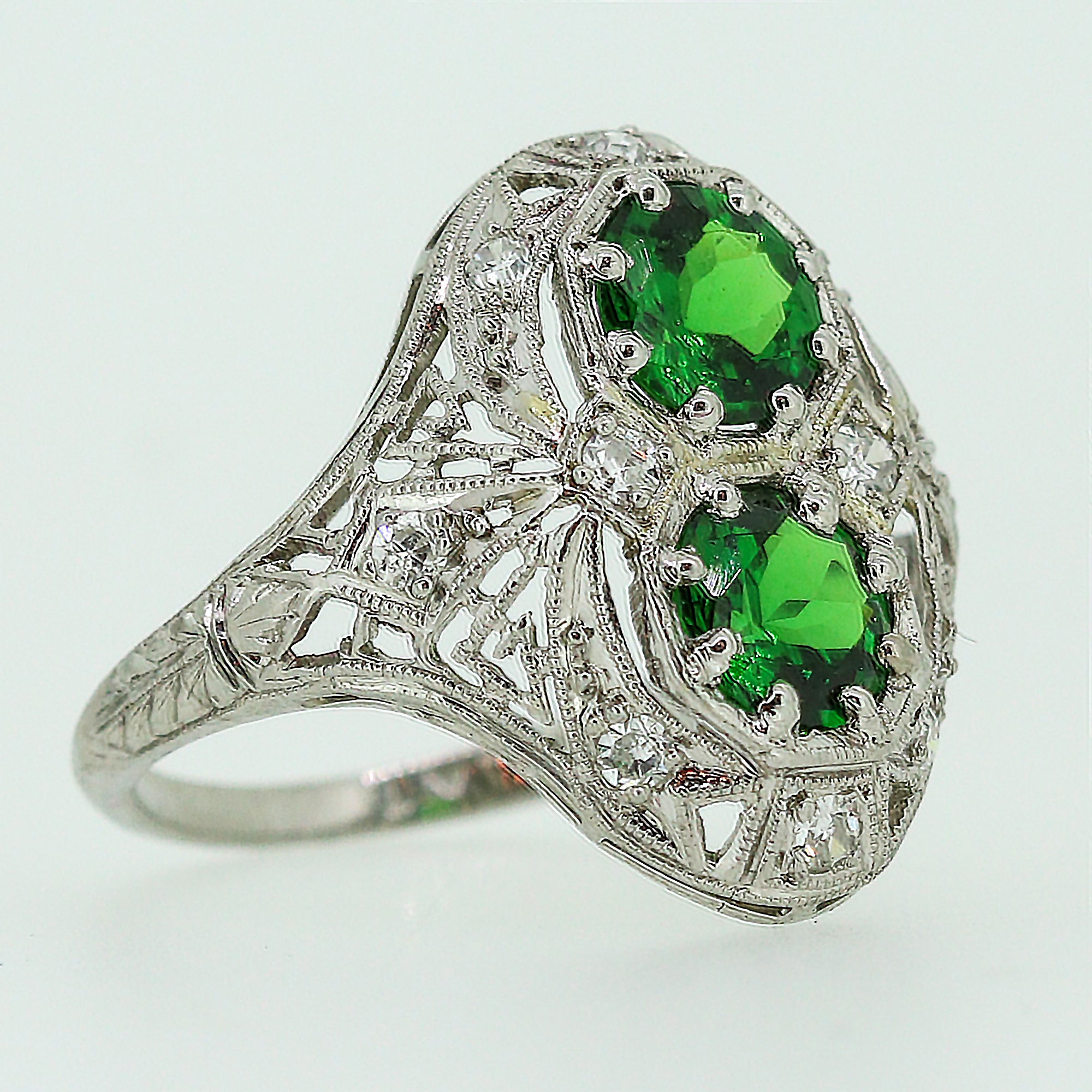 gold aquamarine catalog rings palladium tsavorite ring with white sample engagement