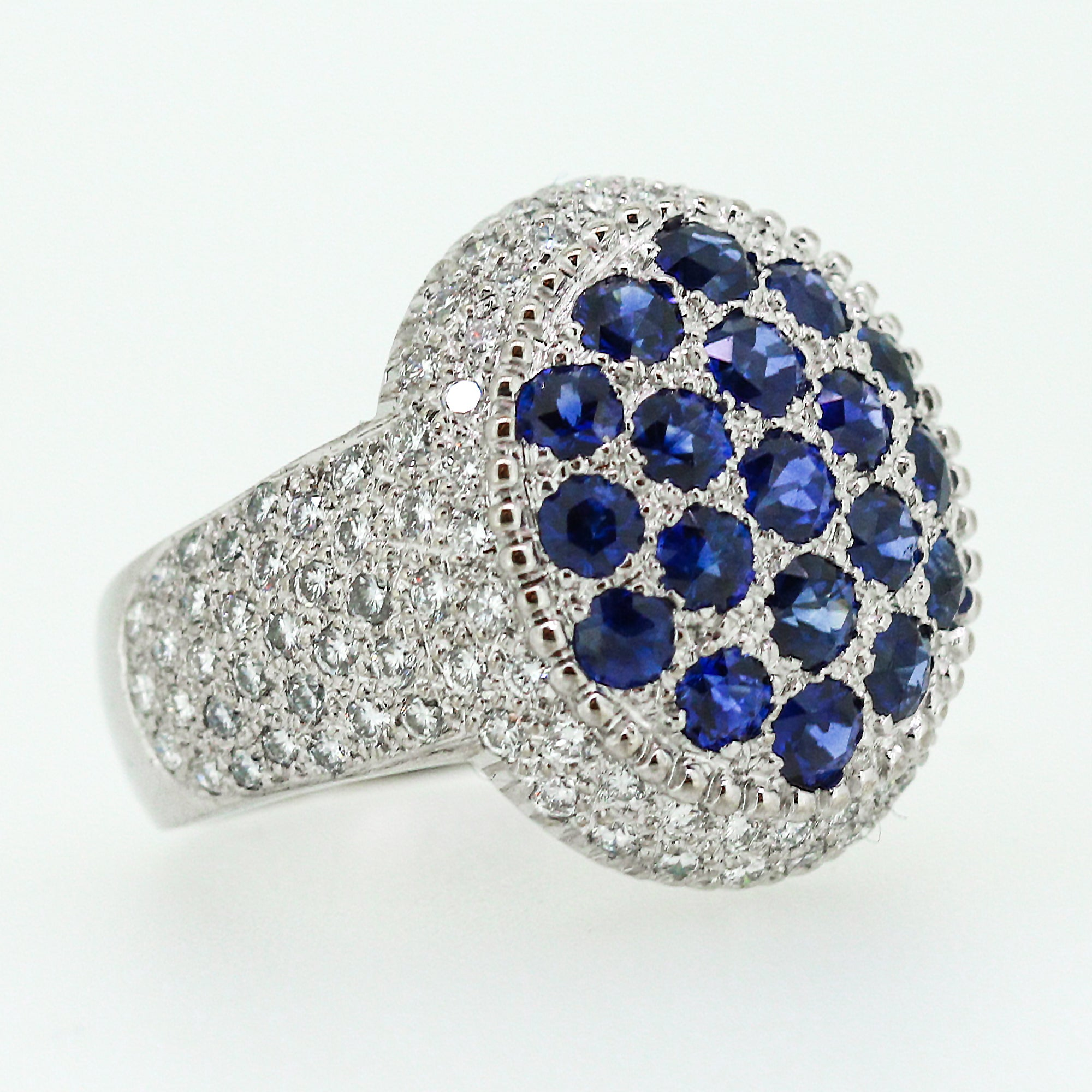 hallmarked sapphire beauty ring sapphires shimmering solid pin diamonds and baguette gold with natural this in