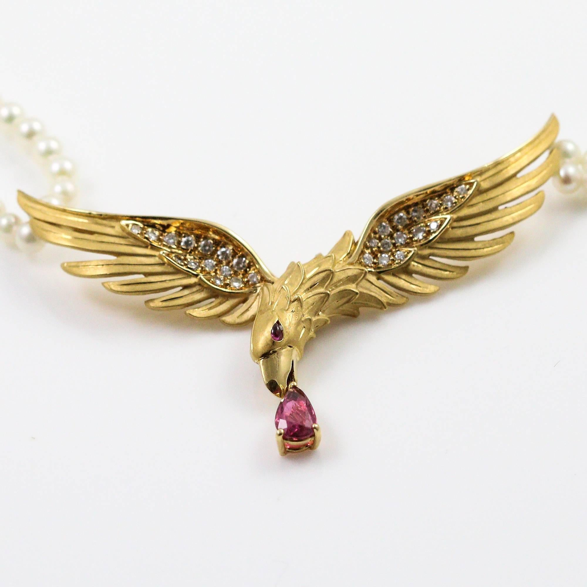 yellow pendant gold diamond product sapphire eagle