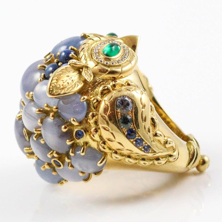 Temple St Clair Grey Star Sapphire Emerald Diamond Athena Owl