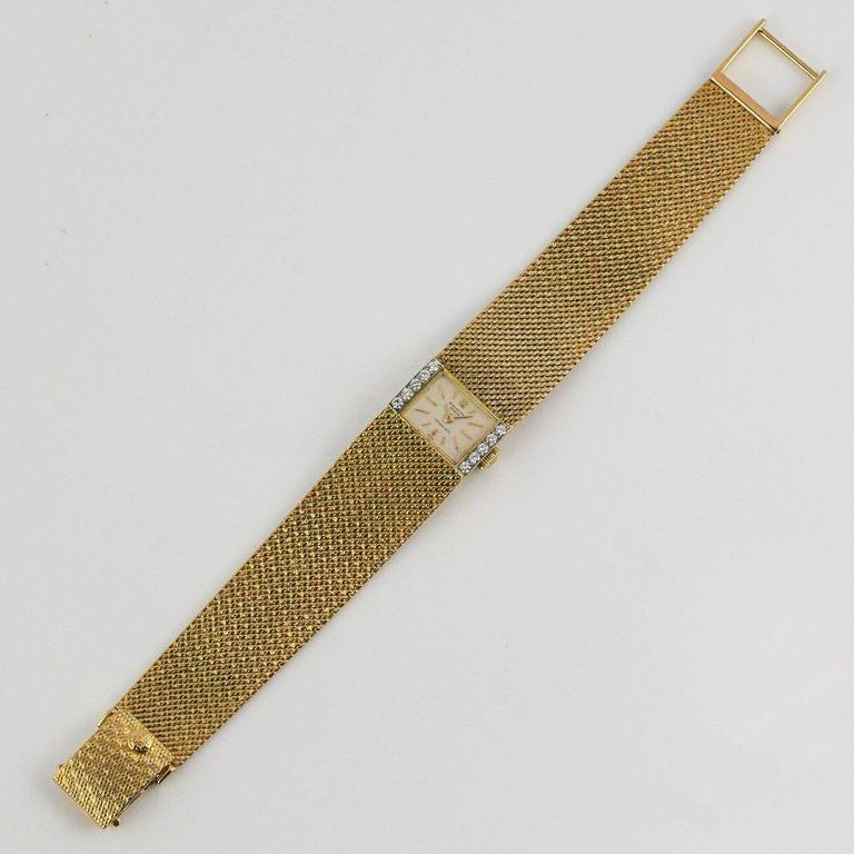 Patek Philippe and Tiffany & Co. Ladies Yellow Gold Diamond Wristwatch 4