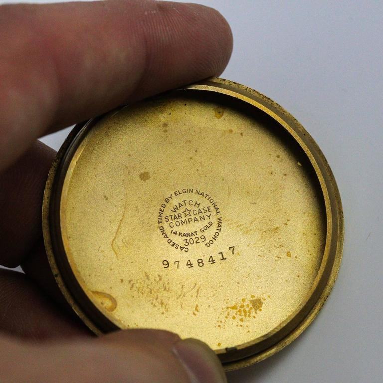 1948 Yellow Gold Lord Elgin Pocket Watch Presented by Monsanto 7