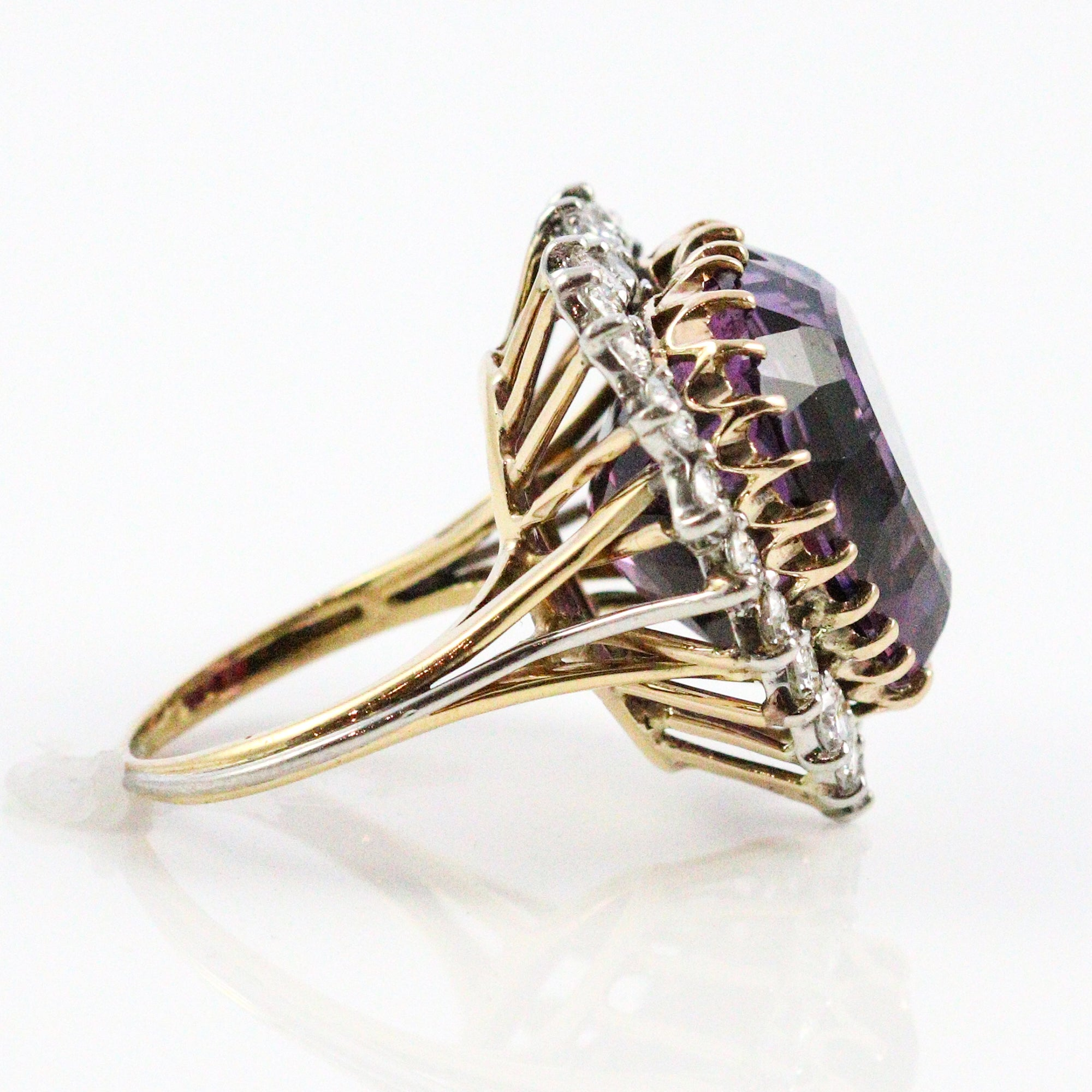 amethyst gold diamonds ring with tw in engagement yellow rings amethist