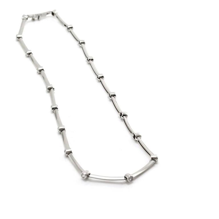 Tiffany & Co. Diamond Station Necklace in Platinum 2
