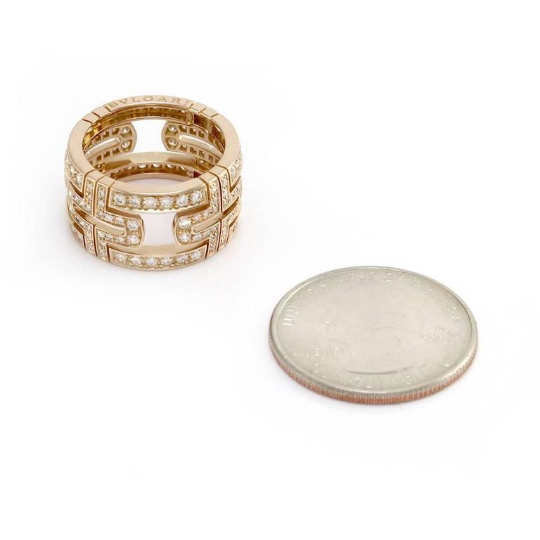 bulgari parentesi pav diamond eternity band ring in gold 3
