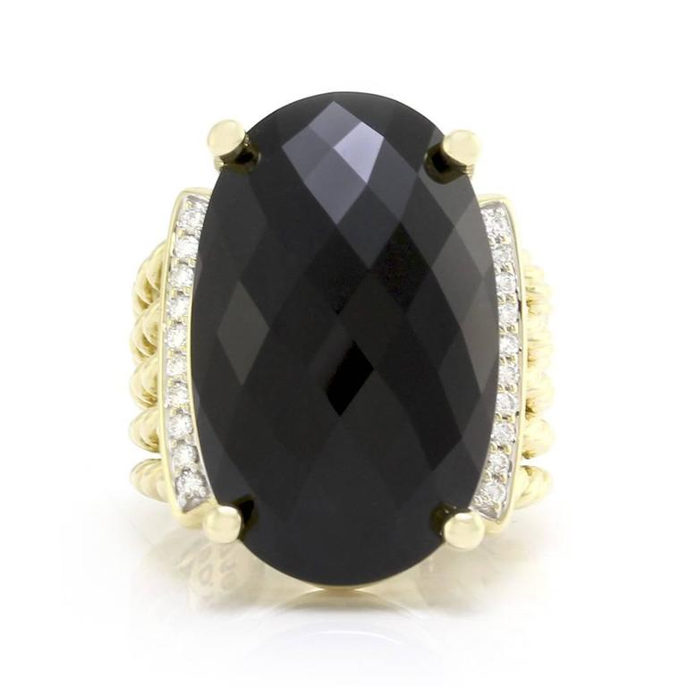 David Yurman Wheaton Collection Onyx Diamond Ring At 1stdibs