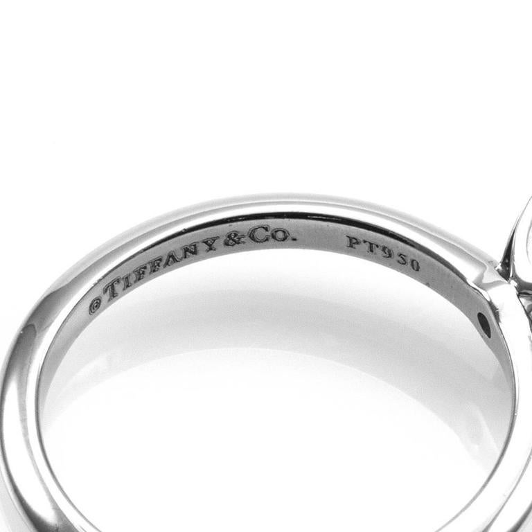 Tiffany & Co. Princess Cut Diamond and Platinum Solitaire Wedding Set  8