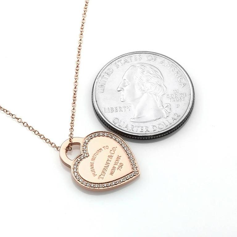 Tiffany & Co. Return to Tiffany Micro-Pavé Diamonds Heart Tag Necklace 2