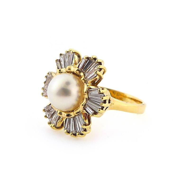 1950s cultured pearl gold ring at 1stdibs