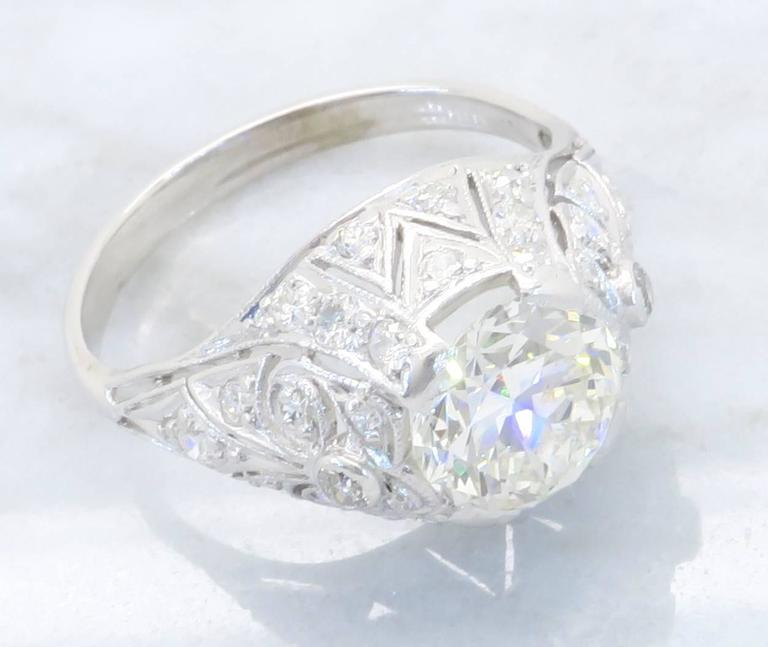 Transitional Cut Diamond Gold Ring For Sale At 1stdibs