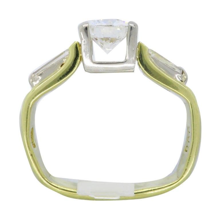 1 29 carat 18 karat gold engagement ring at 1stdibs