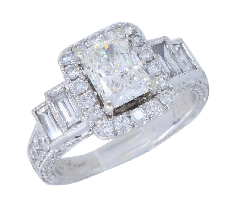 in shank c lane twist t ring neil zales ct v w collections bridal frame collection diamond engagement