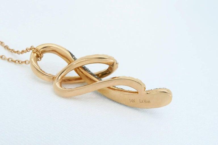 Women's or Men's LeVian Rose Gold Diamond Necklace For Sale