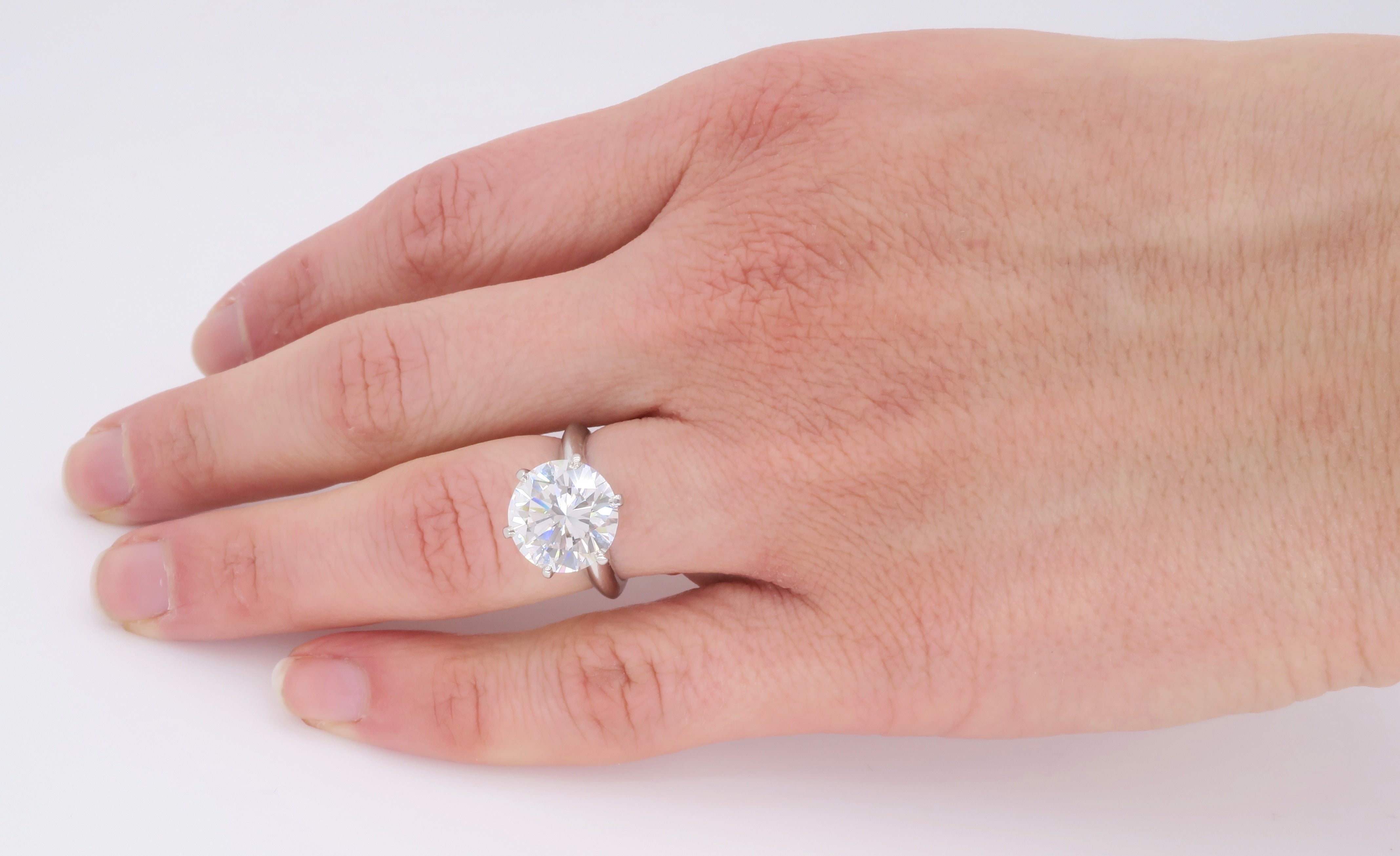 Tiffany and Co. GIA Certified Diamond Platinum Engagement Ring at ...