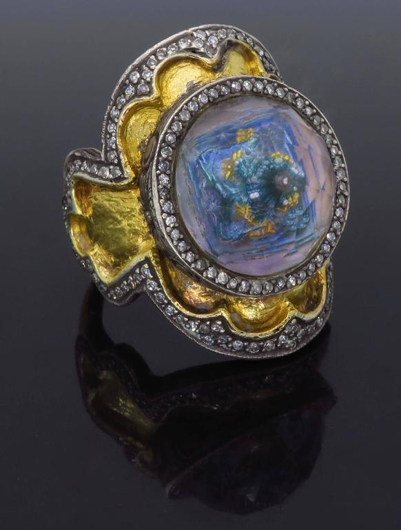 Sevan Bicakci Theodora Reverse Cut Amethyst Yellow Gold