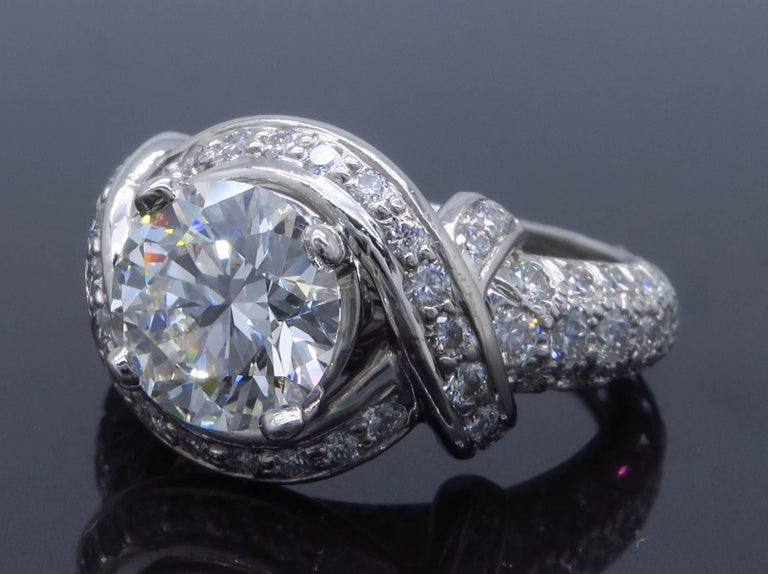 Tiffany & Co. Schlumberger Signature Diamond Platinum Engagement Ring 5
