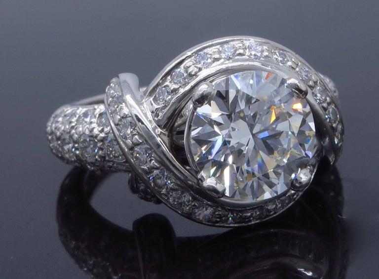 Tiffany & Co. Schlumberger Signature Diamond Platinum Engagement Ring 7