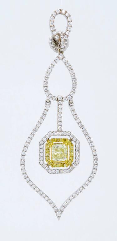 Savransky GIA Certified Diamond and White Gold Chandelier Dangle Earrings 4