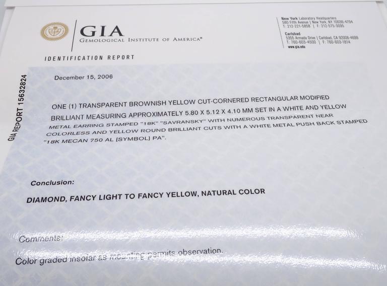 Savransky GIA Certified Diamond and White Gold Chandelier Dangle Earrings 9