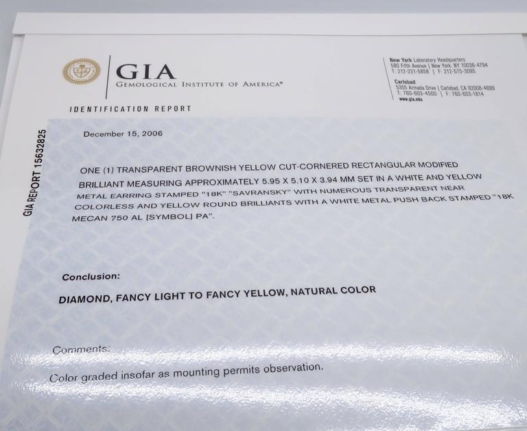 Savransky GIA Certified Diamond and White Gold Chandelier Dangle Earrings 10