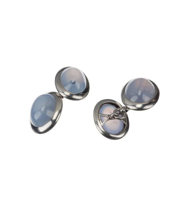 Star Sapphire Platinum Cufflinks 2