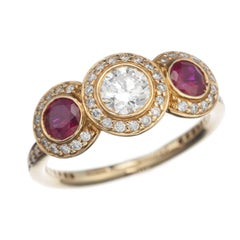 Ritani Ruby Three-Stone Ring