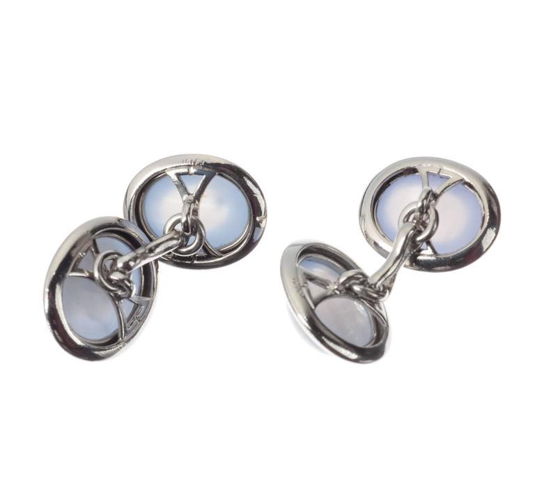 Star Sapphire Platinum Cufflinks 4