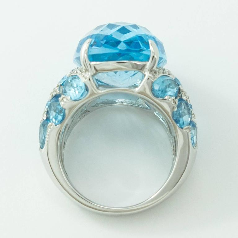 blue topaz white gold ring for sale at 1stdibs