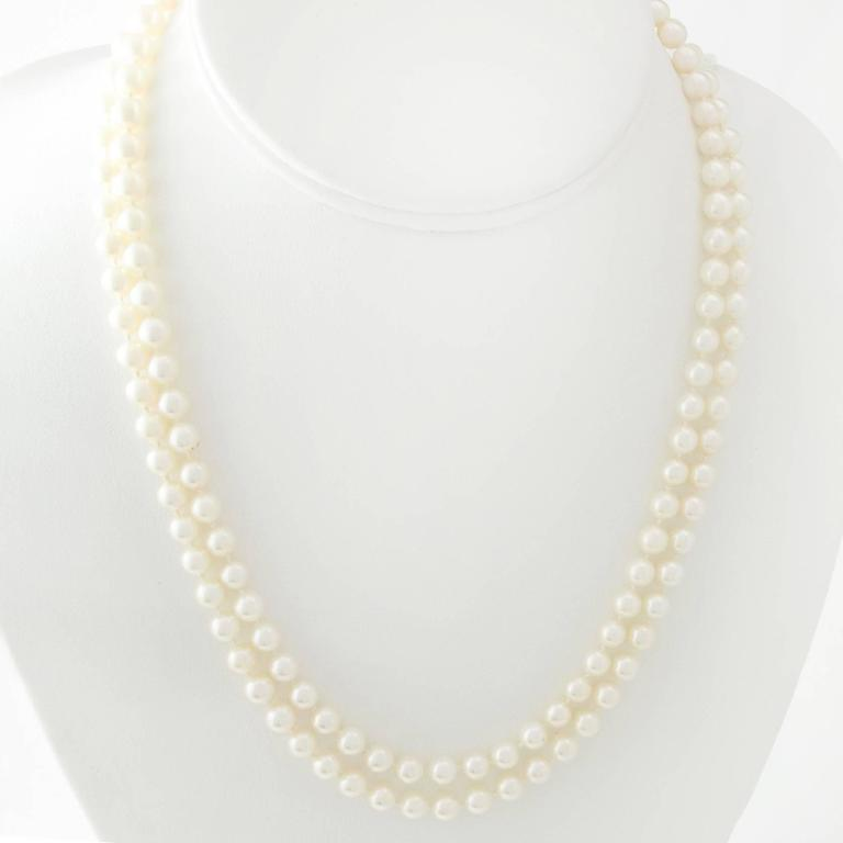 Fine Japanese Akoya Pearl Necklace 2