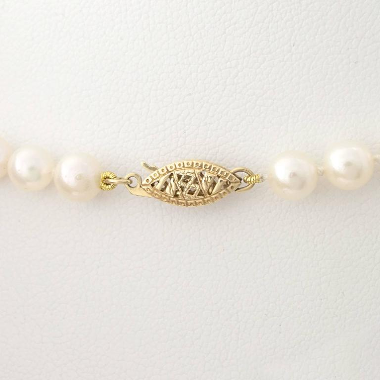 Fine Japanese Akoya Pearl Necklace 6