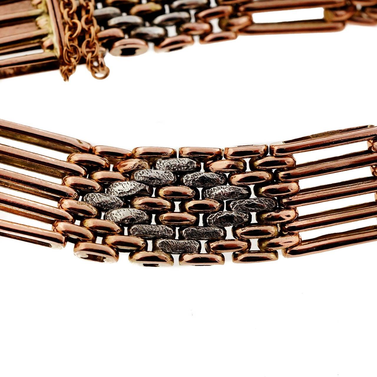 Victorian French Gate Gold Bracelet 4
