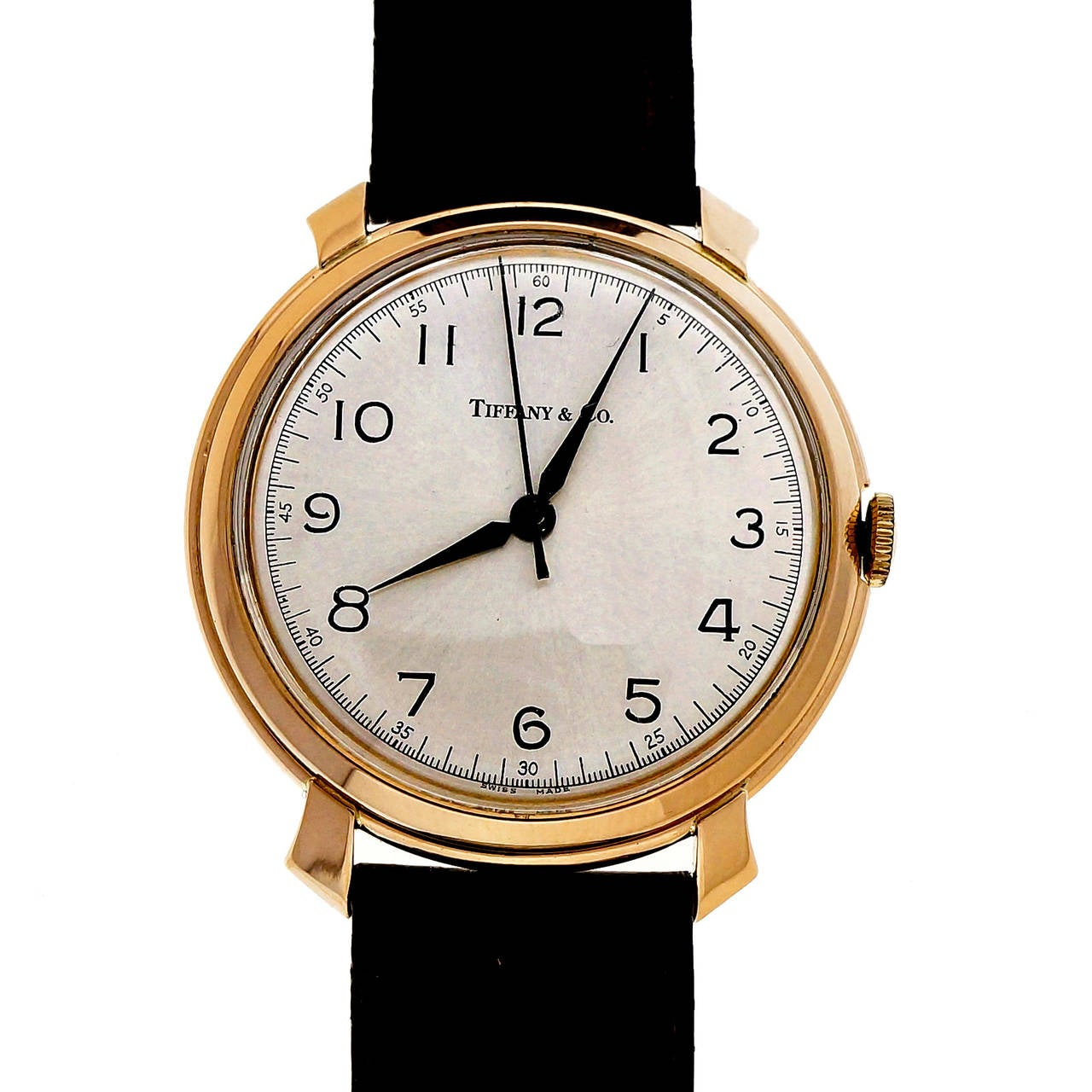 IWC Rose Gold Wristwatch Retailed by Tiffany & Co. In Good Condition For Sale In Stamford, CT