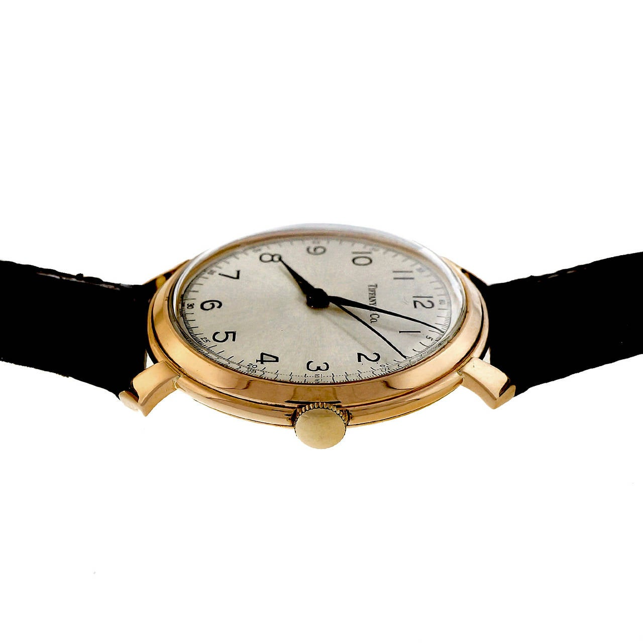 IWC Rose Gold Wristwatch Retailed by Tiffany & Co. For Sale 1