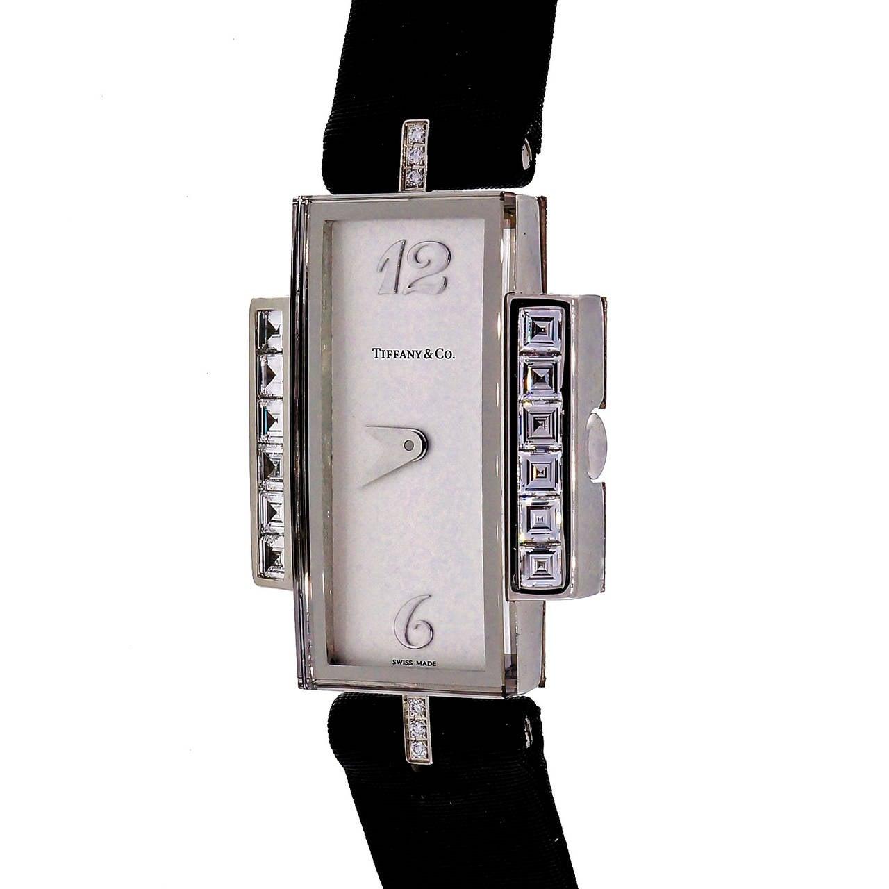 Tiffany & Co Lady's White Gold and Diamond Wristwatch 3