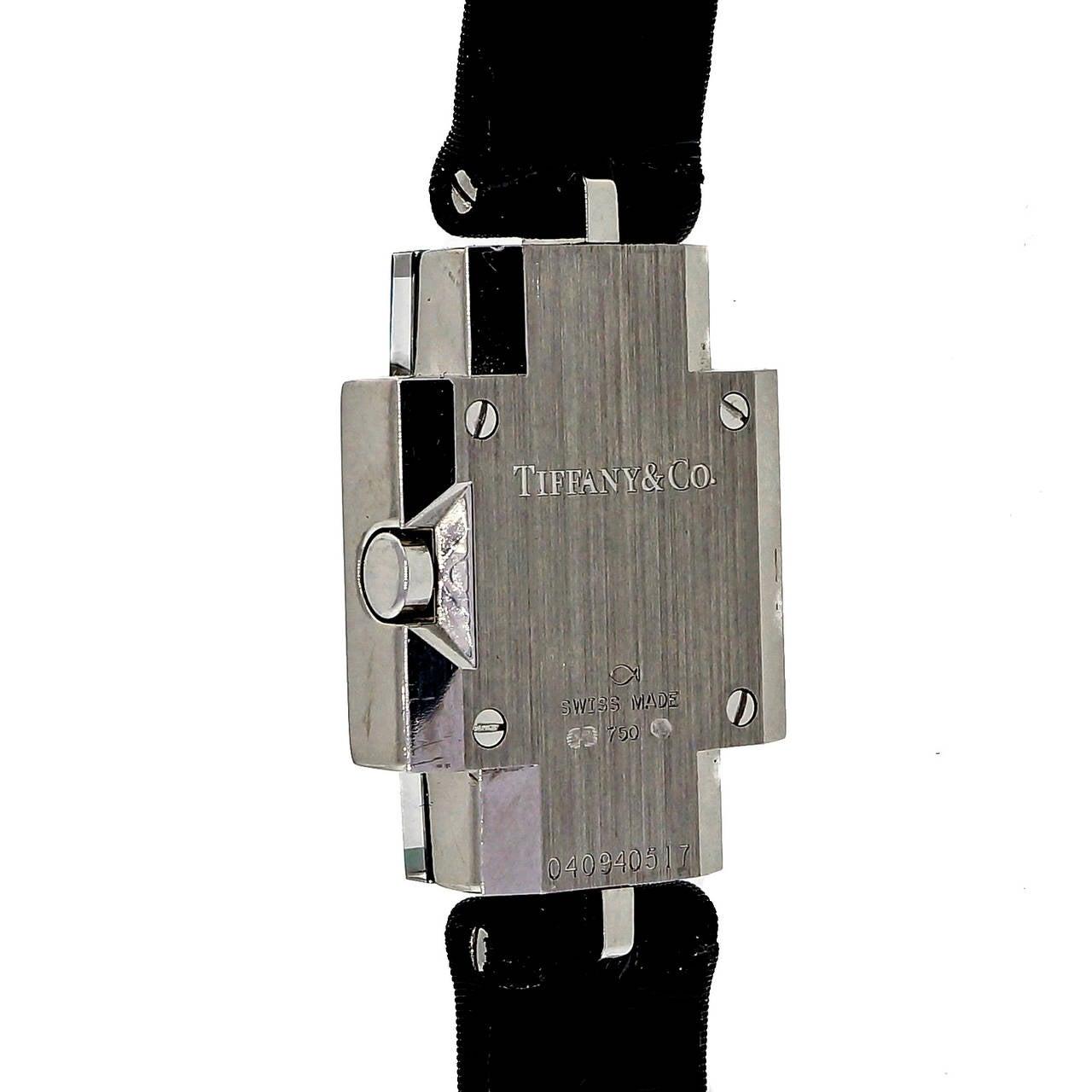 Tiffany & Co Lady's White Gold and Diamond Wristwatch 4