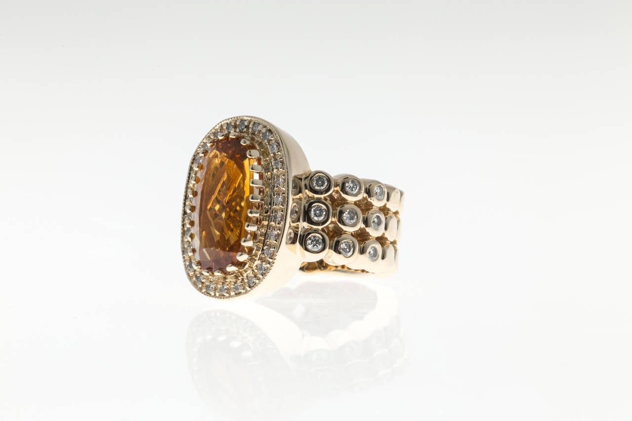 Sonia B Citrine Diamond Gold Ring 5