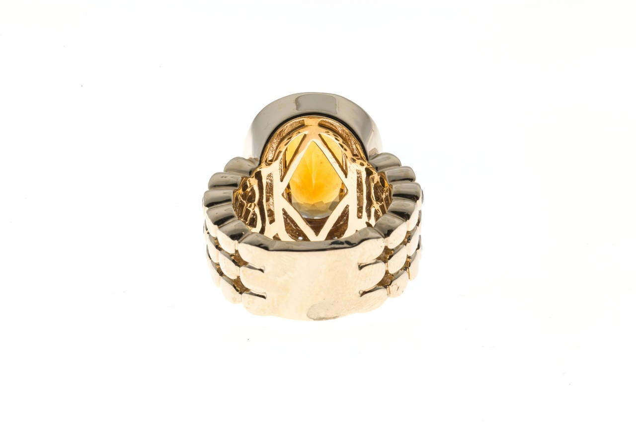 Sonia B Citrine Diamond Gold Ring 6