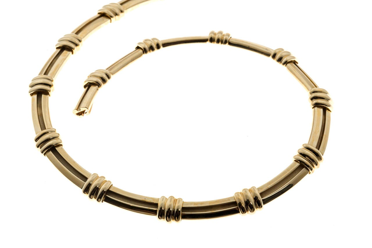 and co gold atlas necklace at 1stdibs