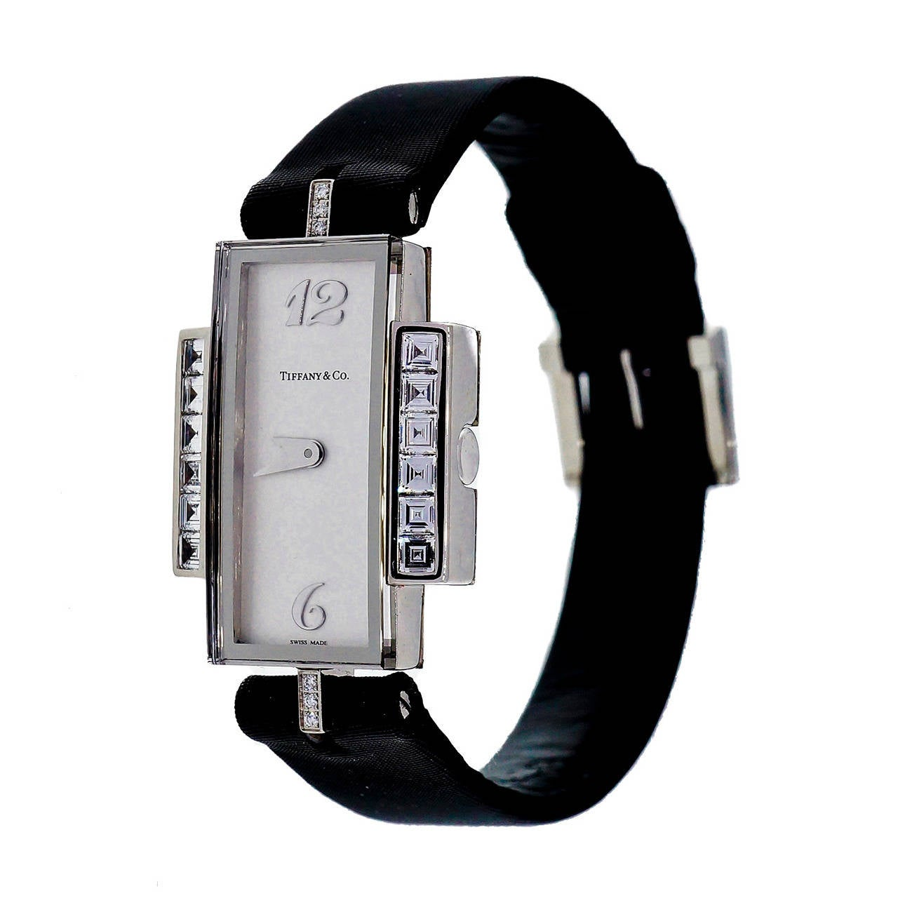 Tiffany & Co Lady's White Gold and Diamond Wristwatch