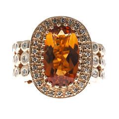Sonia B Citrine Diamond Gold Ring