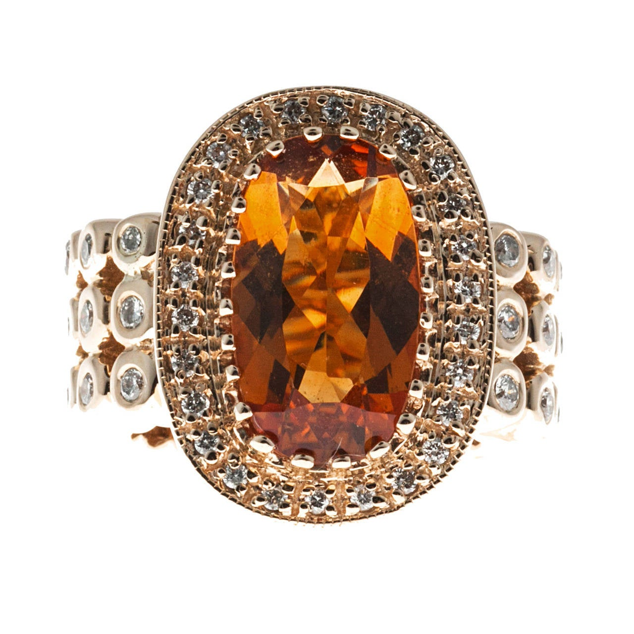 Sonia B Citrine Diamond Gold Ring 1