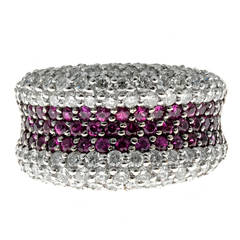 Sonia B Ruby Diamond Gold Dome Ring