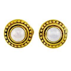 Judith Ripka Mabe Pearl Gold Earrings
