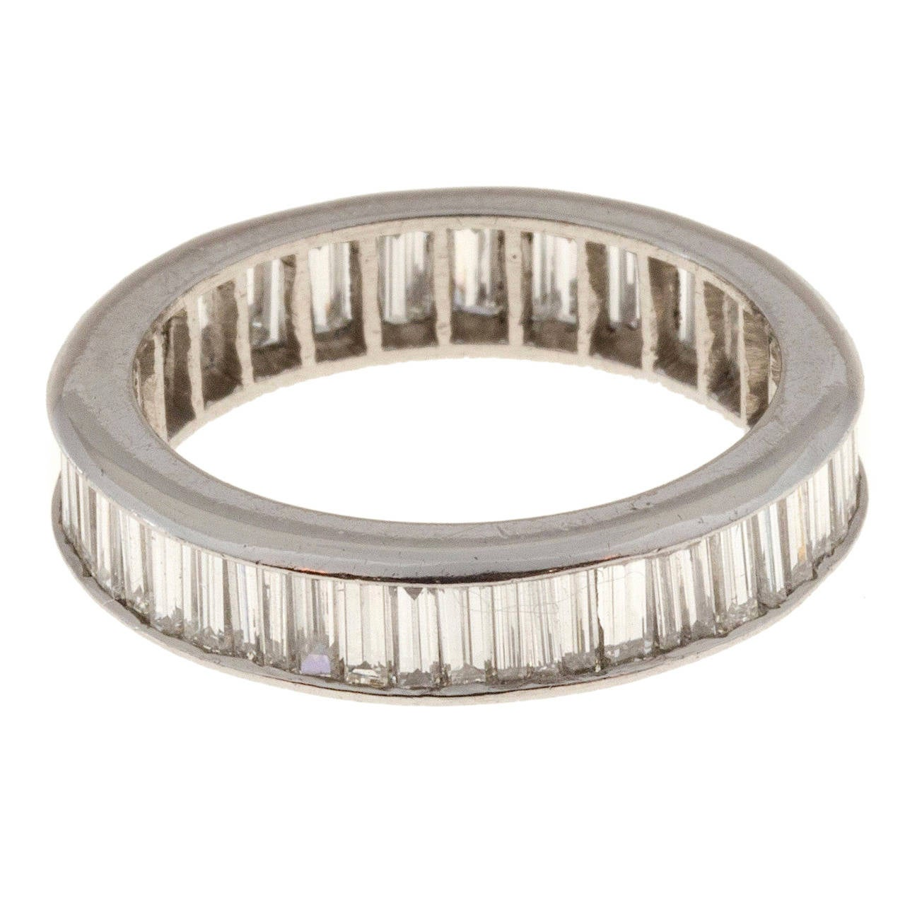 Peter Suchy Design Baguette Diamond Platinum Ring Band