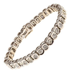 Hinged Full and Brilliant Cut Diamond Gold Bracelet